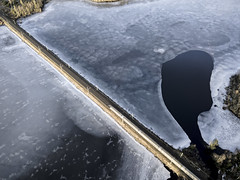 Express train over ice (Mike Foo) Tags: dji mavic drone airborne frozen lake train ice winter railway cold bodafors sweden sverige