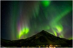 Aurora Borealis over Drangshlíðarfjall (niggyl (well behind)) Tags: fujifilm fujifilmxt1 fujixt1 xt1 samyang samyang12mmf2 samyang12mm rokinon rokinon12mmf20ncscs samyang12mmf20ncscs samyangcsc12mmf20ncscs nikcollection colorefexpro4 longexposure theethereallongexposure iceland ísland suðurland inspiredbyiceland icelandiclandscape breathtakinglandscapes landscape suðurlandsvegur skogafoss southiceland auroraborealis aurora borealis norðurljós northernlights