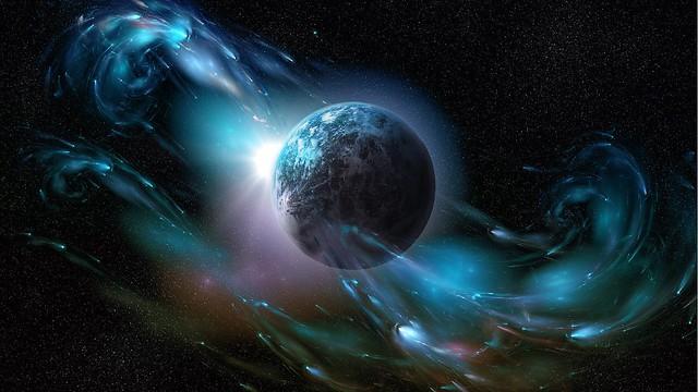Обои планета, космический ветер, пространство картинки на рабочий стол, фото скачать бесплатно