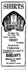 1928 rohloff's specialty shirt shop (albany group archive) Tags: albany ny history 1928 rohloffs specialty shirt shop central avenue 19 1920s mens clothing old vintage photos picture photo photograph historic historical