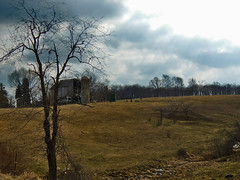 Falling Down (George Neat) Tags: trees farm fields clouds barn buildings structures south huntingdon twp township westmoreland county pa pennsylvania laurelhighlands landscapes scenic scenery outside georgeneat patriotportraits neatroadtrips
