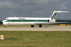 Alitalia - McDonnell Douglas MD-82 (DC-9-82) - I-DAWB 'Cagliari' (Andy2982) Tags: airliner alitalia mcdonnelldouglasmd82dc982 idawb cagliari cn491971138 manchesterairport