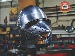 bascinet_custom_rivets_radoslaus01 (Radoslaus the armourer) Tags: bascinet bassinet helmet armour armor