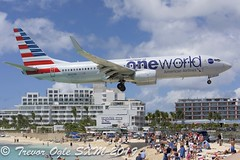 DSC_7934Pwm (T.O. Images) Tags: n837nn american airlines boeing 737 737800 sxm st maarten princess juliana airport