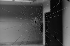 Wounded (George Tzanis) Tags: glass broken street thessaloniki greece campus university vandalism bw black white blackandwhite blackwhite night urban explore emptiness sony sonya7ii canon canonfd50mmf14 fd fdn nfd ilce7m2 a7ii a7m2 makedonia θεσσαλονίκη μακεδονία macedonia