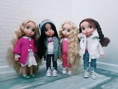 my girls (ArtCat80) Tags: doll disney disneystore rapunzel jasmine belle