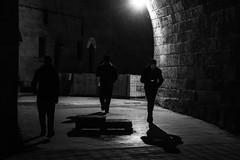band of three  / the dark triangle (Özgür Gürgey) Tags: 2017 24120mm bw d750 darkcity eminönü nikon architecture evening lowlight shadows silhouettes street istanbul turkey