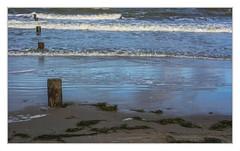 Ostseestrand (Werner Ba) Tags: ostsee strand wellen buhnen seegras sand
