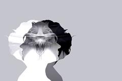 Duality (Annieverse) Tags: self portrait självporträtt silhouette monochrome bw blackandwhite artphotography art photoart photoshop konst konstfoto digitalart