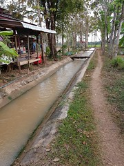 Irrigation canal in Ban Daen Mueang (SierraSunrise) Tags: canal concrete esarn irrigation isaan nongkhai phonphisai thailand trapezoidal