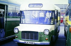 Slide 135-03 (Steve Guess) Tags: addlestone surrey england gb uk lbpt cbm bus coop car park ford transit minibus mlk708l emsworth district fs8 london transport