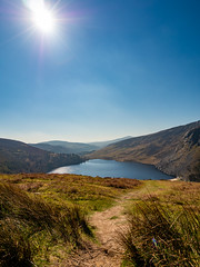 Lough Tay (jim2302) Tags: lake landscape mountain sky sun water tourism tourist olympus pen f penf 918 wideangle