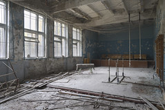 Duga School (Sean M Richardson) Tags: abandoned gymnasium chernobyl exclusion zone duga history travel explore decay details derelict canon photography prime color light fall autumn ukraine gym