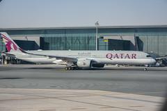 Qatar airways Airbus a350-1000 A7-ANA Doha Hamad airport (Michele Centurelli) Tags: nikon d7200 18105 qatar airways terminal a7ana airbus a3501000 doha hamad airport a350 lightroom