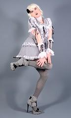 109H4L (klarissakrass) Tags: costume sexydress gurl highheels heels lolita stockings sexylegs crossdresser transgender legfashion pinup lolitapinup