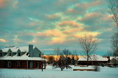 Snowstorm sunset (kirsten.eide) Tags: weather wisconsin vibrance sun storm snow sunset