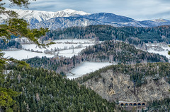 View from the Semmering Pass to the Schneeberg (a7m2) Tags: semmering zauberberg neunkirchen loweraustria schifahren alpineskiingworldcup travel tourismus sport tradition