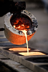 Smooth pour (jkotrub) Tags: iron steel diy make maker pour glow rust metal heat furnace ice snow winter warm molten burn fire