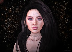 2019 Version ♕ (ღ Sɑrɑɑh Drɑgoone ღ) Tags: girl sexy gorgeous freckles secondlife pic photo face brunet black shop genus genusproject stars shine woman bentoav sl game avatar brazil