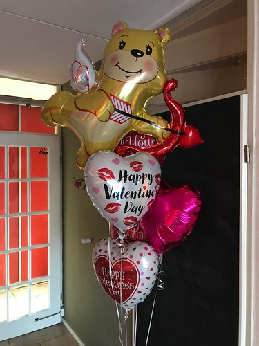 Tafeldecoratie 6ballonnen Gronddecoratie Valentijnsdag