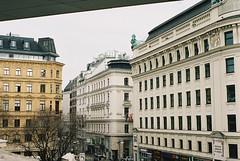 Vienna, Austria (SaintPaula) Tags: vienna austria buildings film filmphotography filmisnotdead beautiful city europe sky vintage old nikon n80 f80 photograph pretty beauty trees magazines yellow kodak portra 400