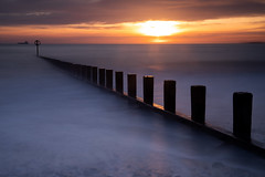 ABZ LE (PeskyMesky) Tags: aberdeen aberdeenbeach longexposure scotland sunrise sunset water sea ocean groyne sky landscape february 2019 flickr