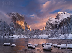Clearing Storm at Valley View (Explore #7) (mikeSF_) Tags: yosemite ynp nationalpark yosemitenationalpark mikeoria photography wwwmikeoriacom elcapitan bridalveil falls bridal capitan halfdome snow winter 645 pentax 645z outdoor merced mercedriver ice mariposa curry clouds cloudy clearing storm snowstorm