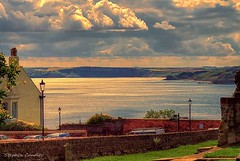 Light On The Bay (Light+Shade [spcandler.zenfolio.com]) Tags: ©stephencandlerphotography spcandler stephencandlerphotography httpspcandlerzenfoliocom stephencandler england uk lightshade sea seascape seaside scarborough yorkshire northyorkshire clouds buildings view landscape southbay bay light