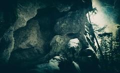 Holes (Crusty Da Klown) Tags: holes rock bc canada winter canon film expired kodak