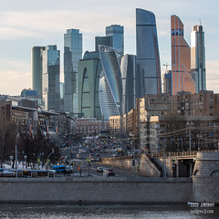 H18A6180 (Said Aminov) Tags: москва закат россия город moscow city sunset river bridge building march street sky ship