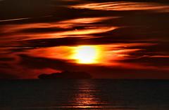-The Four Elements- (Roberto Rubiliani) Tags: cielo sky mare sea sole sun acqua water isola island tramonto sunset nuvole clouds canon eos6d fullframe rubiliani robertorubiliani tuscany toscana tirreno nature natura italia italy inverno winter tirrenia spiaggia beach