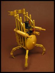 Mobile Oppression Throne (Karf Oohlu) Tags: lego moc mobilethrone mininfig figure character dictator presidentforlife silly oppression golden