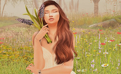 And the moon's never seen me before, but I'm reflecting light (Suzy Brandi) Tags: stealthic catwa catya skinnery lode heart flowers field sad heaven angel labaguette
