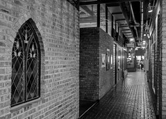 Interiors (kristenscotti) Tags: olympus chicago chicagoland evanston usa blackandwhite bw black white streetphotography street spring winter bokeh capturestreets visuals microfourthirds 50mm portrait outside art city people monochrome penf mono day interior brick window glass lights shadows