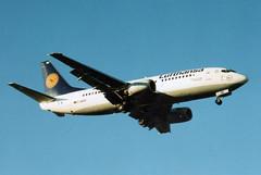 1986 Boeing 737-330 D-ABXK - Lufthansa - London Heathrow 1998 (anorakin) Tags: 737 1986 boeing 737300 dabxk lufthansa london heathrow 1998