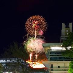 若草山山焼きと花火 Mt. Wakakusa Yamayaki (ELCAN KE-7A) Tags: 日本 japan 奈良 nara 若草山 mt wakakusa 花火 fireworks ペンタックス pentax k3ⅱ 2019