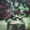 day 81 (Randomographer) Tags: project365 fairy girl decorated whimsical light green story fay fae faerie mythical forest metaphysical supernatural preternatural wings heart figure figurine pewter gem box 81 365 2019