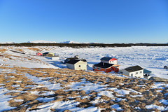 Sunny Day ... But Cold! (Zircon_215) Tags: winter ice cabins mountains packice greatnorthernpeninsula newfoundland westernnewfoundland longrangemountains greenpoint curve cove curvedcove bluesky
