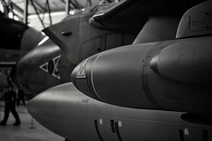 Tornado. (Steve.T.) Tags: tornado tornadogr4 panaviatornado rafbomber raffighter iwmduxford duxford museum aeroplane aircraft avporn avgeek aviationphootography militaryaviation d7200 nikon 50mmlens blackandwhite bnw mono