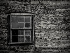 broken eyes of the soul (imbrojerry) Tags: texture details abandoned decay old nikon d750 nj dark broken window bw