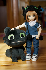 How To Train Your Dragon 08 (Mista-Oro) Tags: toy howtotrainyourdragon dragon dreamworks toothless fairyland ltf littlefee chiwoo bjd doll