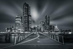 Rijnhavenbrug (martijnvdnat) Tags: rotterdam winter architectuur avond kopvanzuid licht nacht stad stadsfotografie stadsverlichting stedelijk