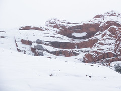 Pothole Arch (xjblue) Tags: 2018 archesnationalpark newyearsweekend southernutah utah canyon canyonlands cold desert governmentshutdown sandstone snow trip winter natural span naturalarch