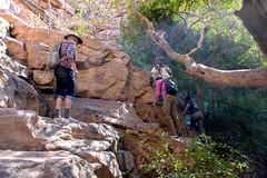 Negociating the Trail _5706 (hkoons) Tags: moremigorge peacecorps southernafrica africa botswana debra palapye gorge hike hiking stream trail