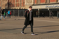 Stationsplein - Amsterdam (Netherlands) (Meteorry) Tags: europe nederland netherlands holland paysbas noordholland amsterdam amsterdampeople candid streetscene people centrum centre center stationsplein centraalstation station gare male homme guy boy twink black noir sneakers skets baskets trainers nike eyecontact winter hiver january 2019 meteorry nikeairforce1