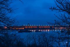 ДніпроГЕС уночі (ucrainis) Tags: zaporizhzhia ukraine night long exposure dniprohes power station dnieper river blue dark winter eastern europe lights bridge dam