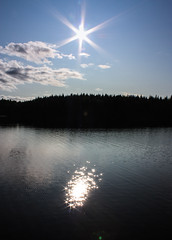 IMG_2541-1 (Andre56154) Tags: schweden sweden sverige himmel sky wolke cloud lake sunset sun sonne forest spiegelung reflection