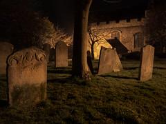 Gravestones (Bahi P) Tags: sodiumvapour folkestone night gravestones graveyard stmaryandsteanswythe'schurch church