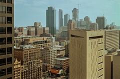 Chicago Skyline (Jovan Jimenez) Tags: canon eos rebel t2 nikon series e kodak ektar 100 35mm film chicago skyline 100mm seriese eseries analog analogue ais