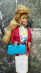 Barbie Weekend Collection #1527 from 1988 (VintageZealot) Tags: barbie mattel 1980s 80s 1986 1988 vintage fashion doll clothing clothes outfit super star superstar hair 1527 3101 model modelling vacation weekend collection suit malaysia diamond rhinestone crystal ring brass hoop earring earrings pumps white caucasian blonde blouse top sleeveless blazer jacket sweater skirt belt pink red fuscia blue yellow green choker neck 1989 89 accessories 8120 handbag hand bag purse rose jewelry plastic snaps retro